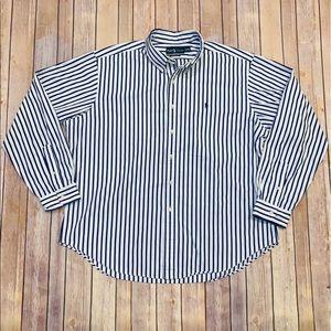 Ralph Lauren Mens Classic Fit blue pin stripes XXL